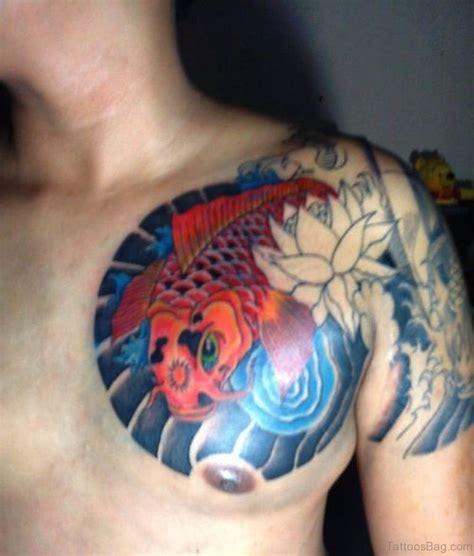 cute fish tattoos  chest