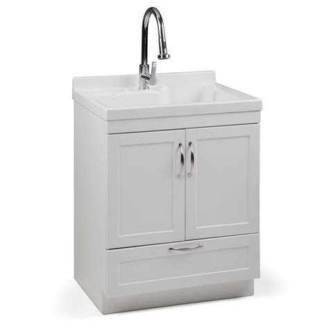 Utility Sink In Cabinet by Simpli Home Maile 28 In X 22 In X 36 In Acrylic Abs