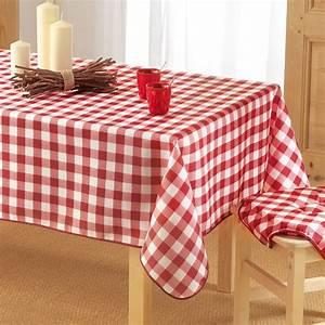 Nappe De Table : nappe rectangulaire l240 cm vichy rouge nappe de table eminza ~ Teatrodelosmanantiales.com Idées de Décoration