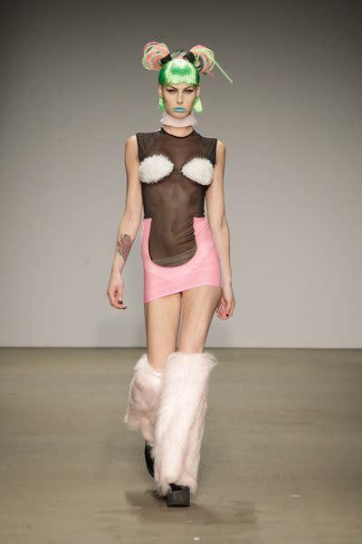Pink Fur Chair by Nieuw Jurk Ss2014 Amsterdam Fashion Week Team Peter
