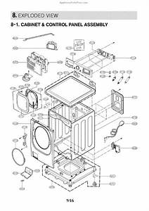 Parts For Lg Wm3997hwa  Control Panel Parts