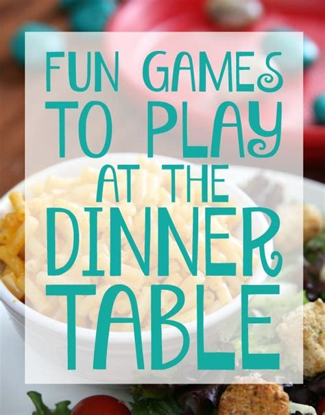 Fun Games To Play At The Dinner Table  Dinner Table