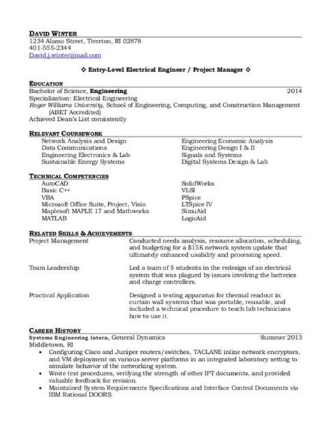 entry level project management cv project manager resume entry level and resume on