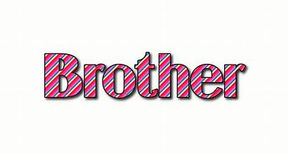 Brother Text Logos Stripes