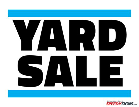 yard sale printable sign template diy
