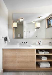 15 examples of bathroom vanities that have open shelving With kitchen cabinet trends 2018 combined with meuble rangement papiers