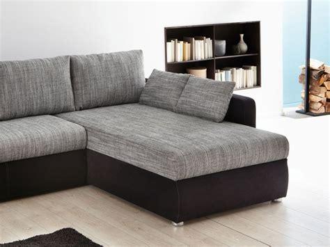 Ecksofa Couch Tifon 272x200cm, Grau Schwarz, Bettfunktion
