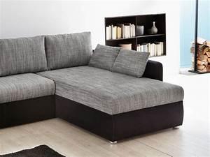 Welche Kissen Zu Rotem Sofa : ecksofa couch tifon 272x200cm grau schwarz bettfunktion ~ Michelbontemps.com Haus und Dekorationen
