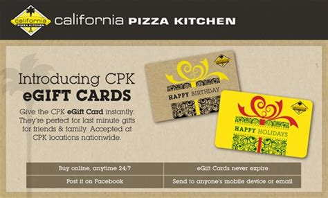 california pizza kitchen gift card deal  coupon challenge