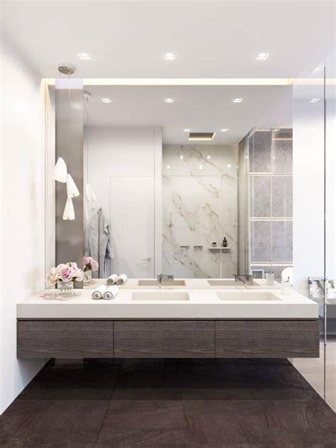 big bathroom mirror trend  real interiors