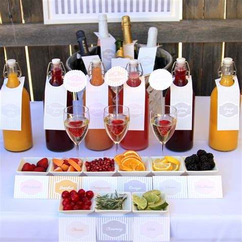 mimosa bar bridal shower how to put together a mimosa bar