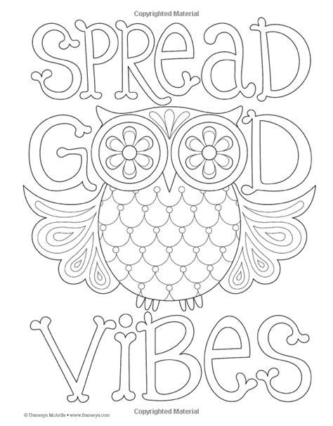 Good Vibes Coloring Book (Coloring Is Fun): Thaneeya