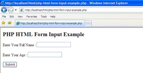 exles php html form input exle