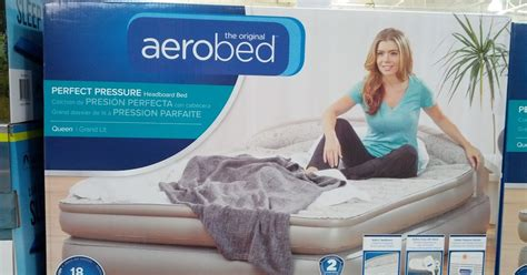 aerobed 18 quot airbed with headboard costco weekender