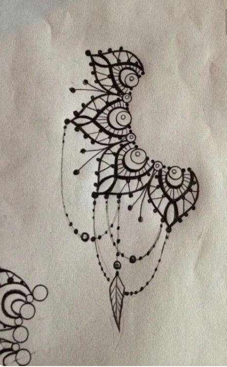 tattoo dotwork lace vintage tattoo ideas
