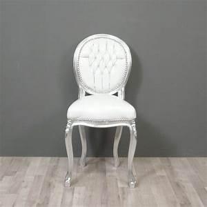 Chaise Medaillon Blanche : chaises baroques blanches ~ Teatrodelosmanantiales.com Idées de Décoration