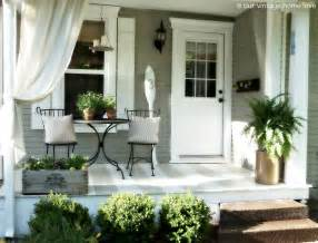 our vintage home back side porch ideas for summer and an industrial pipe curtain rod how to