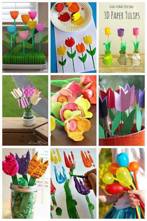 tulip crafts  kids