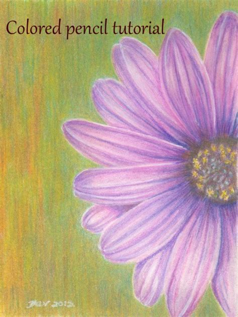 Coloring Flowers With Colored Pencils by Painting Flowers With Colored Pencils Feltmagnet