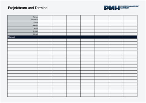 templates projektmanagement handbuch