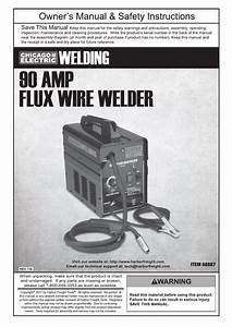 Chicago Electric 90 Amp Flux Wire Welder 68887 User Manual