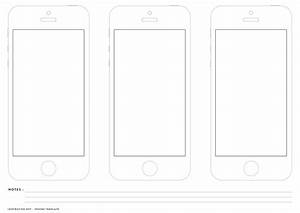 printable iphone wireframe for app and web designers With iphone app wireframe template