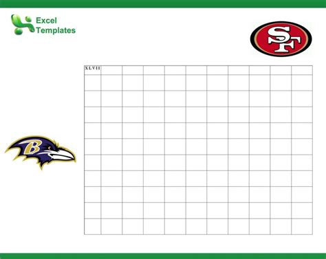 Free Bowl Pool Templates by Football Pool Template