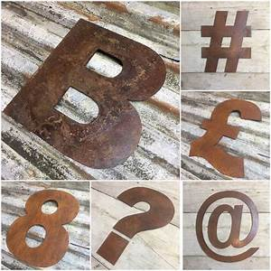 reclaimed 1239 rusty metal letters symbols signs by bobo39s With reclaimed metal letters