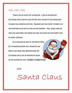 free printable letters from santa or letters to santa With xmas letters from santa