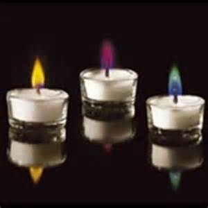 Color Flame Oil Candle