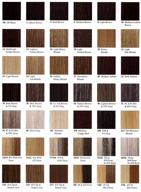 Hair Color Code by Colour Your Hair Colour Chart Hair Coloring And Hair Style