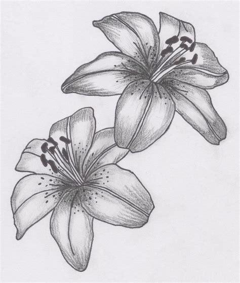 tatto flower drawings  tattoos lily flower tattoo