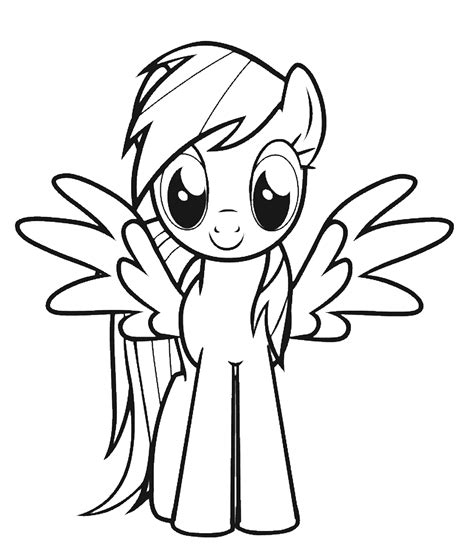 Coloring Picture For Kid by Rainbow Dash Coloring Pages Coloringsuite
