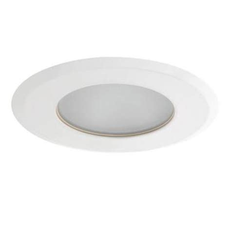 globe electric 4 in white recessed shower light fixture
