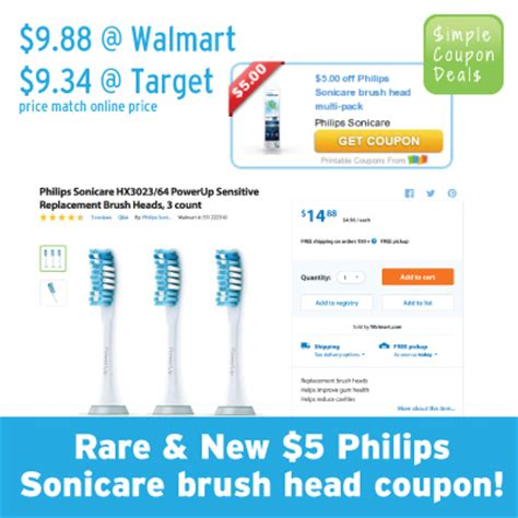 RARE! Philips Sonicare Brush Head & Toothbrush Coupons! $9