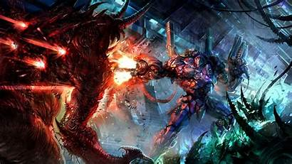 Demon Robot Wallpapers Fighting Hell Fantasy Scary