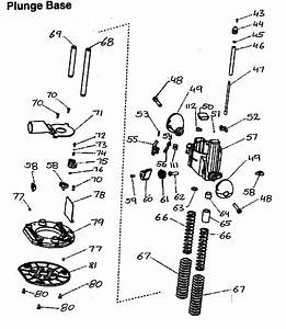 Craftsman Router Plunge Base Parts