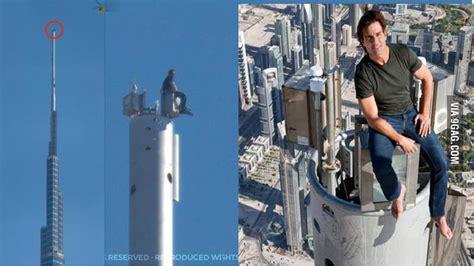 Tom Cruise Sits On The Highest Part Of Burj Khalifa 9gag