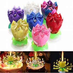 1PC Beautiful Blossom Lotus Flower Candle Birthday Party ...