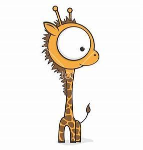 Big eyed giraffe vector image on   VectorStock - Clipart ...