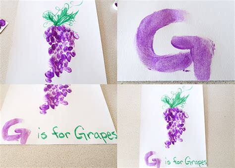 G Is For Grapes Fingerpaint Project Woo Jr Kids Activities