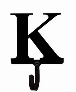 letter k wall hook small With wrought iron letters for wall