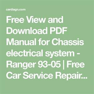 Free View And Download Pdf Manual For Chassis Electrical