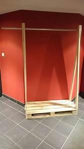 Dressing En Palette : penderie en palette bois et m tal industriel c line g ~ Melissatoandfro.com Idées de Décoration