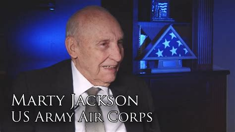 Marty Jackson, U.S. Army Air Corps (Full Interview) - YouTube