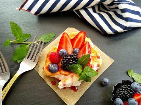 dessert sweet berry cloud eggs and wine