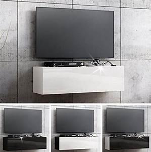 Tv 105 Cm : tv lowboard h ngeboard board schrank mit hochglanz 105 cm l nge m bel24 ~ Teatrodelosmanantiales.com Idées de Décoration