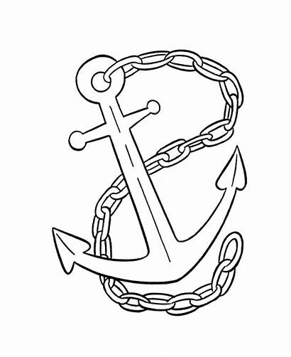Pirate Ship Coloring Anchor Pages Tattoo Cartoon