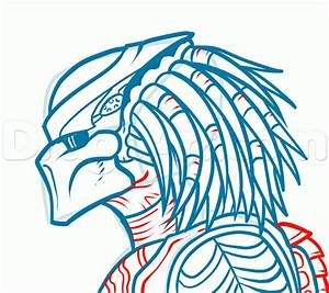 How to Draw Alien vs Predator, Step by Step, Movies, Pop ...