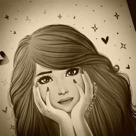 cute girl drawing images  getdrawingscom